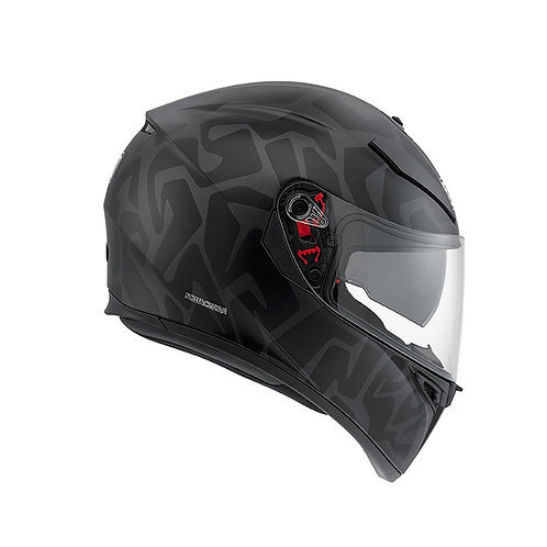 AERIAL MATT DARK GREY-BLACK K3-SV MULTI PINLOCK