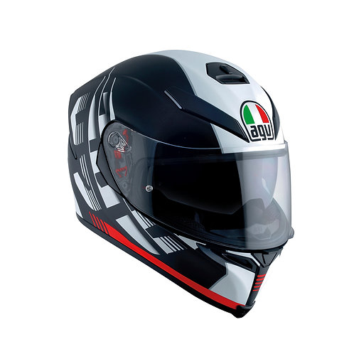 AGV K-5 S DARKSTORM MATT BLACK-RED