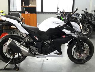 [NEW!]Z250 สีขาวดำ ปี2014 วิ่ง18,xxxโล ราคาเบาๆ พร้อมจัดไฟแนนซ์