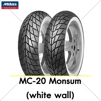110/70-11 + 120/70-11 MC-20 Monsum (white wall) MITAS