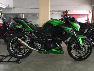 [NEW!]Z300 สีเขียวดำ ปี2015 วิ่ง47,xxxโล ราคาแบ่งกันใช้ พร้อมจัดไฟแนนซ์