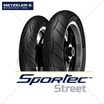 90/80-17 + 90/80-17 SPORTEC STREET X-PLY METZELER