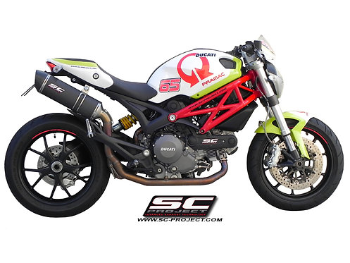 SC-PROJECT FULL SYSTEM OVAL SILENCER Ducati Monster 795-796