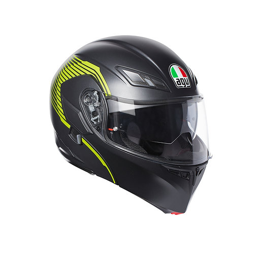 AGV Compact VERMONT MATT BLACK-YELLOW FL