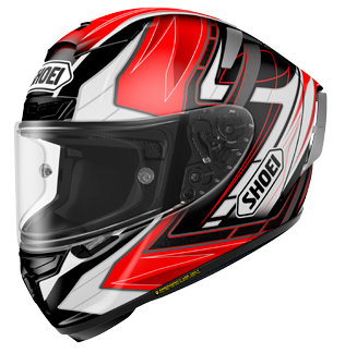 SHOEI X-FOURTEEN ASSAIL TC-1 Red-Black