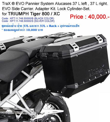ชุดกล่องข้าง พร้อม Rack Trax EVOTiger800 XC SW-Motech