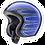 Thumbnail: Arai Freeway Classic EL CAMINO BLUE