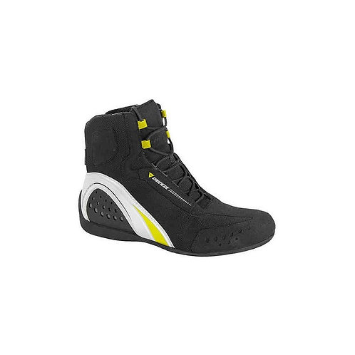 Dainese Motorshoe D-WP Nero/Bianco/Giallo-Fluo #45