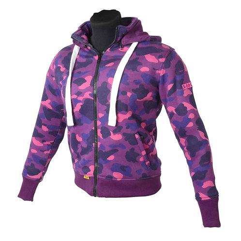 เสื้อฮู้ดมีการ์ด / Booster Hoodie For Lady Color : CAMO PINK