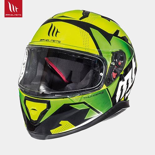 MT Thunder 3 Torn Gloss Fluor Yellow Fluor Green