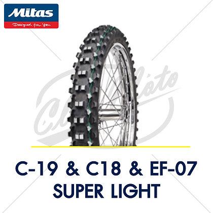 90/90-21 + 120/90-18 C-19 & C-18 & EF-07 SUPER LIGHT MITAS