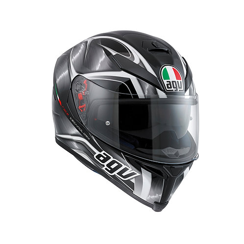 AGV K5-S HURRICANE BLACK-GUNMETAL-WHITE