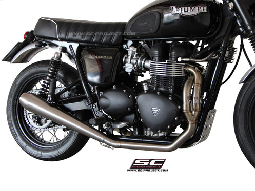 SC-Project FULL SYSTEM 2-1 with CONIC SILENCER Triumph BONNEVILLE