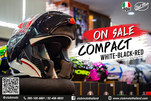 AGV COMPACT VERMONT WHITE-BLACK-RED