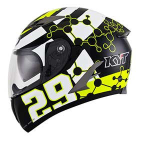 KYT Racing Helmet C5 Iannone Rep. Black / White