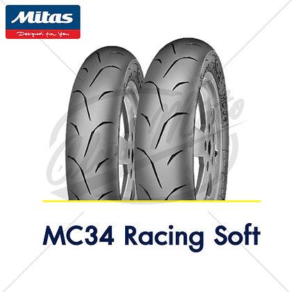 110/70-12 +  110/70-12 MC34 RACING SOFT MITAS