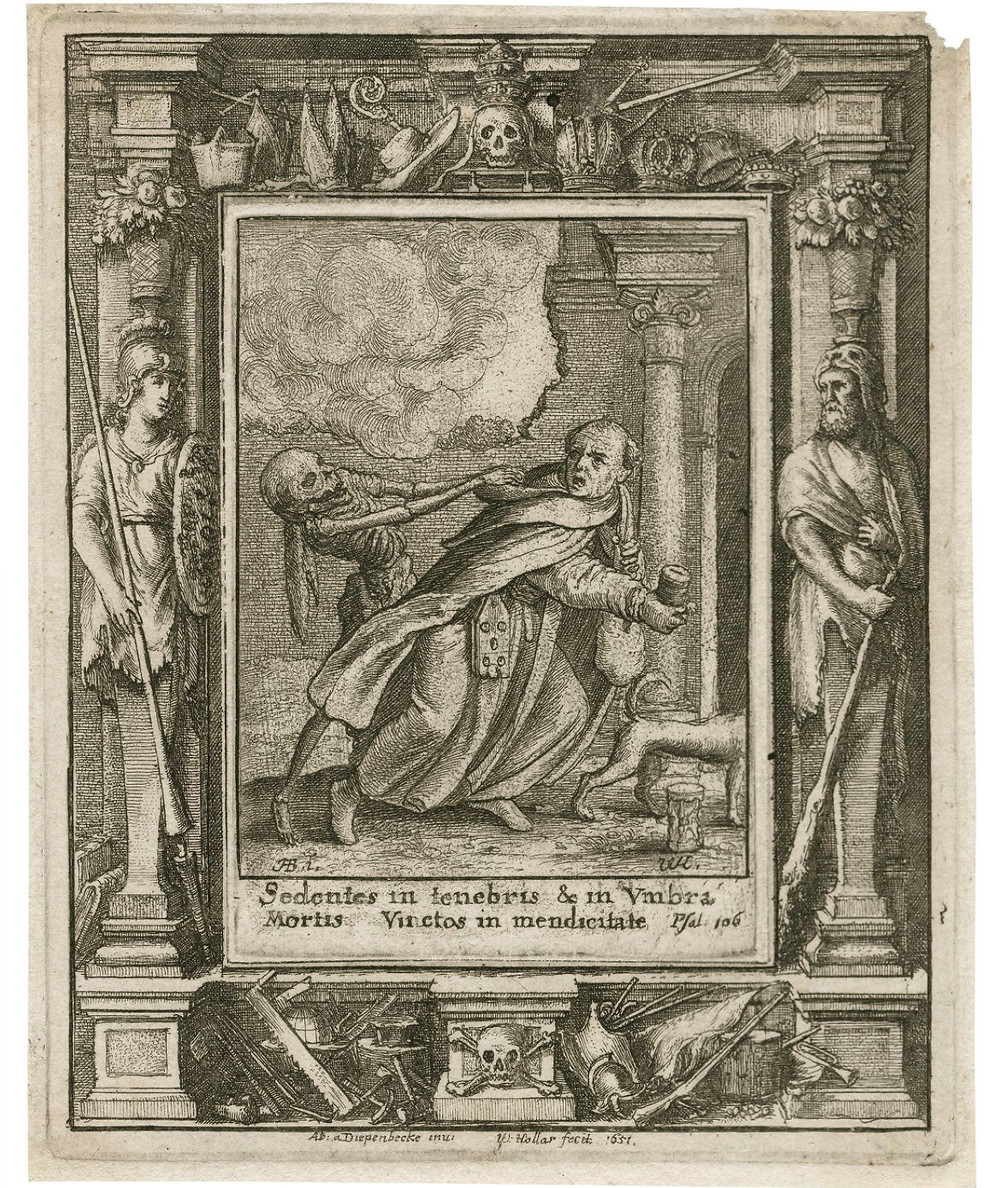 Han's Holbein's Dance of Death, The Monk, another book bound in human skin, Folger Library