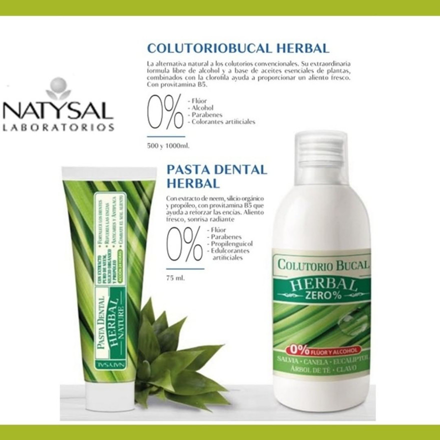 Colutorio y pasta dental herbal Natysal