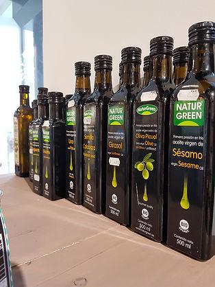 Aceite Sesamo, Oliva Picual, Girasol, Semilla de Cañamo, Semilla de Calabaza, Argán