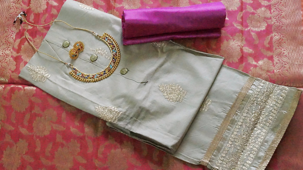 Silk and banarasi dupatta