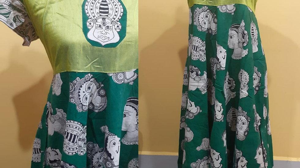 Printed Kalamkari Dress