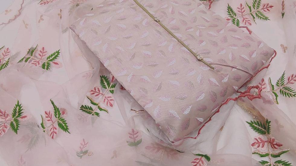 Tusser Silk Dress Material