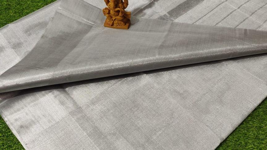 Tissue Sarees with self border