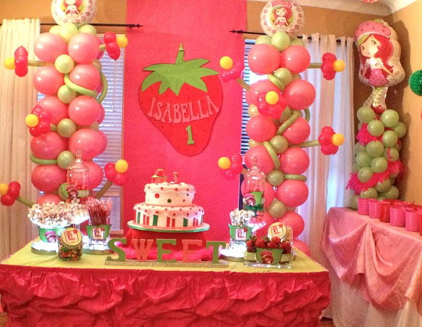 Strawberry Shortcake Baby Shower Supplies Part - 17: Giselleu0027s Baby Shower. Strawberry Shortcake Sweets Table