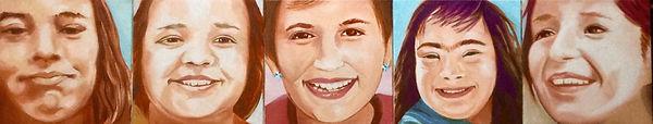 Grandchildren, 9_x45_, oil on canvas, 20