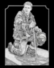Firefighter Plaque, Etched Granite, with