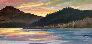 Partridge Island, Oil on Panel, 12_x22_,