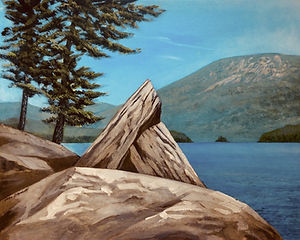 View from Bauer Dock, Oil on Canvas, 18_