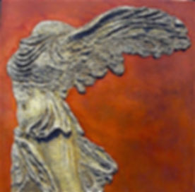 Winged Victory, Mixed Media, 24_x24_, 19
