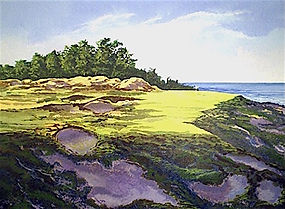 Whistling Straights, Oil, 28_x36_. 2005.