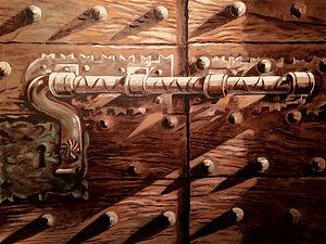 Door Latch, Ponte Vecchio, Oil Panel, 18