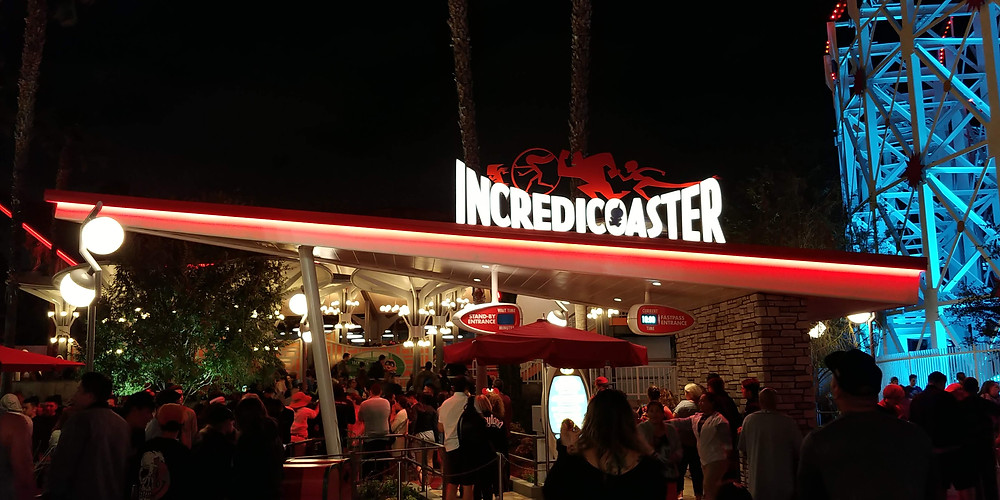 The entrance to Incredicoaster