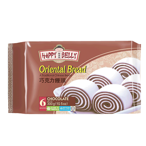 Oriental Bread (Mantou) Chocolate 6 pcs