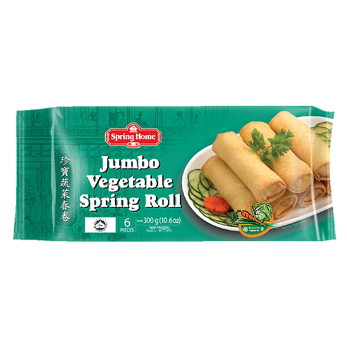 Jumbo Vegetable Spring Roll 6 pcs