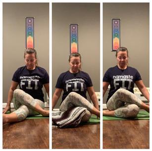 Shoelace Pose- Yin Yoga