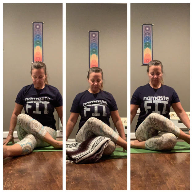 Shoelace Pose- Yin Yoga
