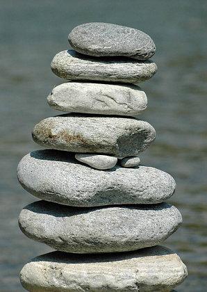 Grusskarte Steine