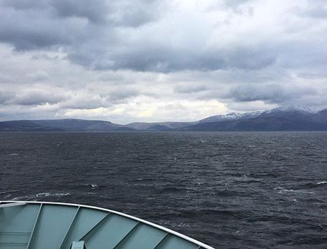 Arran's hills from the ferry
