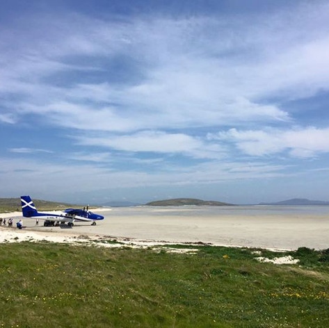 Barra's beach airport