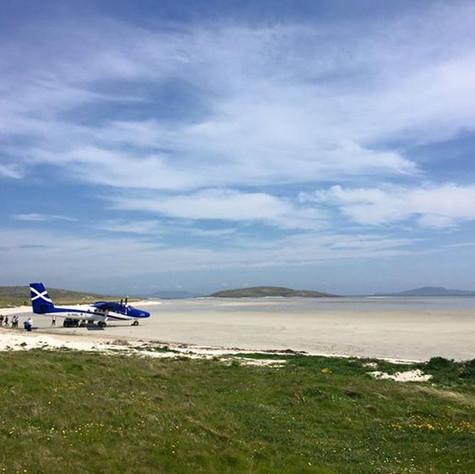 Barra's beach airport
