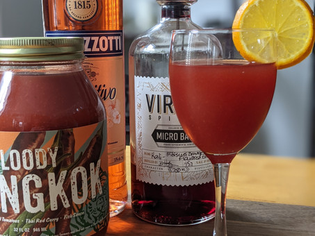Bloody Bangkok with Virago Kali Gin and Ramazzotti Aperitivo Rosato