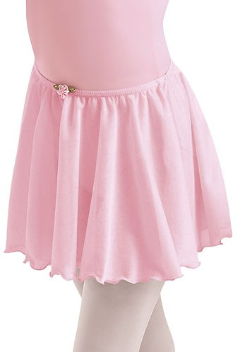 Child Crepe Ballet Skirt with Rose