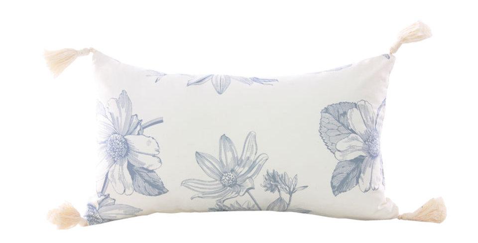 almofada paris floral azul