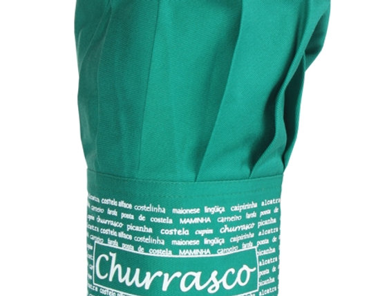 chapéu de cozinheiro churrasco verde