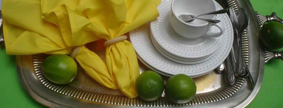 pack com 02 guardanapo amarelo