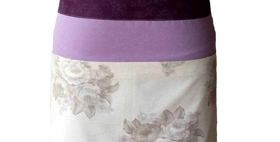 avental cintura floral lilás